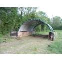 Abri tunnel largeur 5,40 m - pas 2 mètres - bâche 250 microns