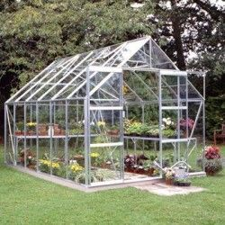 Serre de jardin Magnum 128 en verre trempé - 9.90 m²