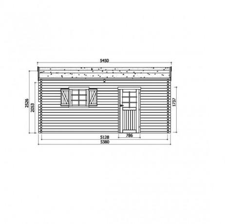 GARAGE Traditionnel 17,07 m² avec double porte