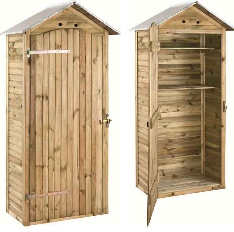 Grande armoire de rangement en pin