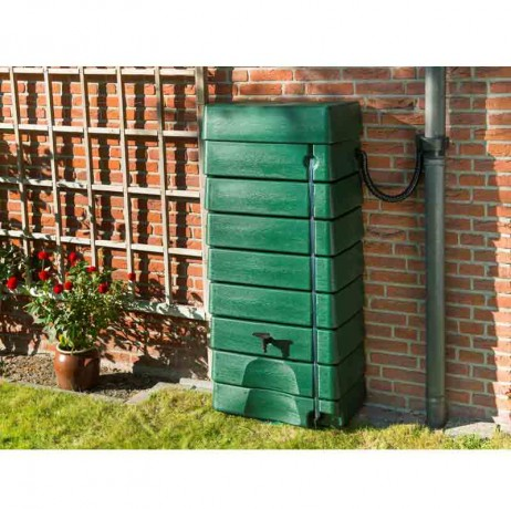 Récupérateur d'eau tonneau forme murale 320 litres