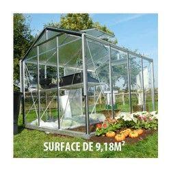 Serre de jardin en verre trempé Royal 34 - 9,18 m²