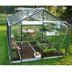 Serre de jardin en verre trempé Royal 28 - 13,84 m²