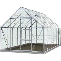 Serre de jardin en verre trempé Olivier - 9,90m²