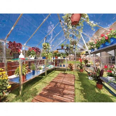 Serre Octave en polycarbonate 8,8 m² (intérieur)