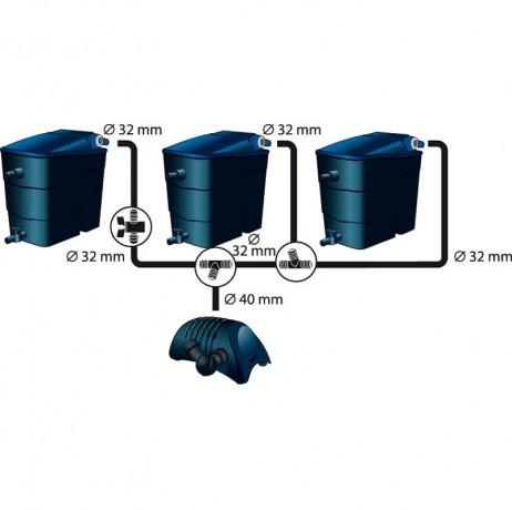 Kit filtre à 2 chambres modulaires Filtramax en série
