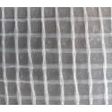 Bâche 220 microns armée transparente sur mesure avec ourlets