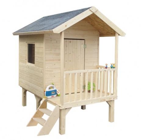 Maisonnette enfant bois Kangourou sur pilotis