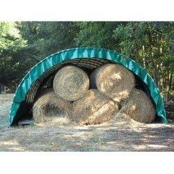 Abri tunnel largeur 5.40 m pas à 1 m bâche camion 720 g/m²