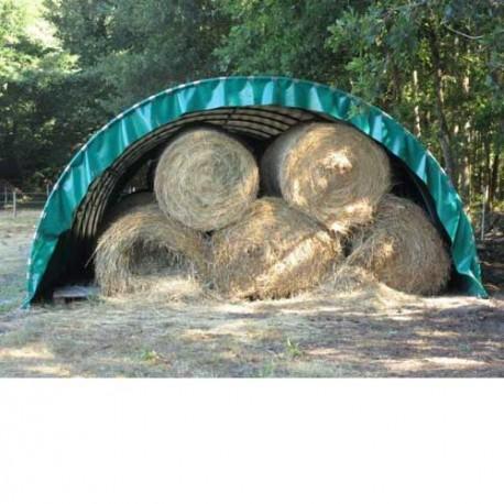 Abri tunnel largeur 5.40 m pas à 1.50 m bâche camion 720 g/m²