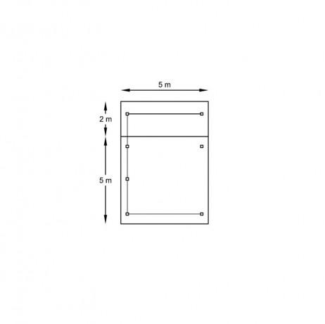 Carport 5064 x 7064 mm avec 3 parois