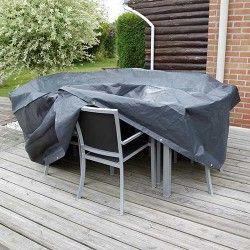 Housse de protection pour table rectangulaire et chaises de jardin
