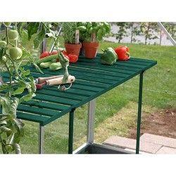 Table rabattable pour serre de jardin