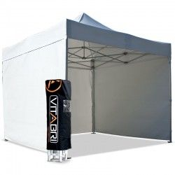Tente pliante V3S5-Pro PVC blanc - 4 x 4 m