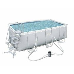 Kit Piscine Rectangulaire Power Steel Frame Pools L 412 x l 201 x H 122cm