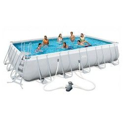 Kit Piscine Rectangulaire Power Steel Frame Pools L 671 x l 366 x H 132 cm