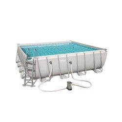 Kit Piscine Carré Power Steel Frame Pools L 488 x l 488 x H 122 cm