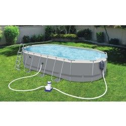 Kit piscine ovale Power Steel Frame Pools L 610 x l 366 x H 122 cm
