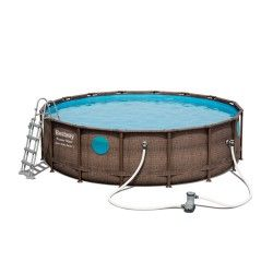 Kit piscine ronde Power Steel Swim Vista Pool ø488 cm - Hauteur 122 cm