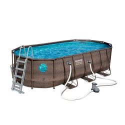 Kit piscine ovale Power Steel Swim Vista Pool L 549 x l 274 x H 122 cm