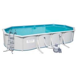 Kit piscine ovale Steel Wall Pool L 740 x l 360 x H 120 cm - filtre à sable
