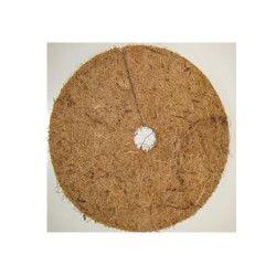 Le disque végétal en fibre de coco est totalement biodégradable et naturel. La pose de latex sur une face lui confère une tenue de 24 à 36 mois. Il se pose au pied des plantations intérieures ou extérieures et permet de garder l'humidité en limitant la pousse des mauvaises herbes ce qui aide au développement racinaire.Il se dégrade en se transformant en humus qui enrichie le sol.Avantages- sert de paillage en surface d'un pot- dure longtemps (de 2 à 3 ans) car le tressage des fibres de coco est dense afin de ne pas laisser passer la lumière- forme ronde qui s'adapte à la surface du pot- se décompose avec le temps- étouffe les mauvaises herbes- limite l'arrosage- protège les racines en hiver- régule la température au sol aux différentes saisons- excellente tenue au vent de part leur épaisseur- les disques sont pré-découpés sur leur rayon afin de les glisser facilement au pied des plantesUtilisationPlacez le disque sec (sans l'humidifier) face avec le latex côté terre du pot, puis arrosez. Le disque deviendra de plus en plus épais avec le temps car les fibres se détendent.ConditionnementVendu à l'unitéNous vous conseillons d'effectuer vos plantations avec du grain d'eau pour encore plus d'économies d'arrosage