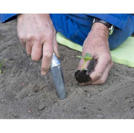 Plantoir conique en acier galvanisé
