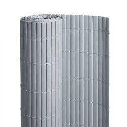 Canisse en PVC gris - 90% d'occultation