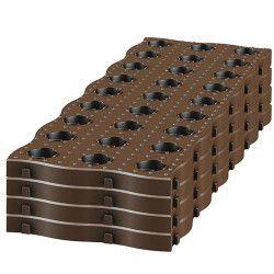 Kit 4 sets de 4 dalles de potager maxi