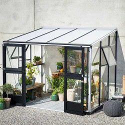 Serre adossée Véranda en verre trempé 6.6 m²