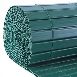 Canisse occultante en PVC vert