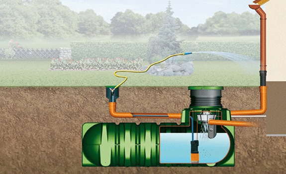 récupérateur d'eau à enterrer