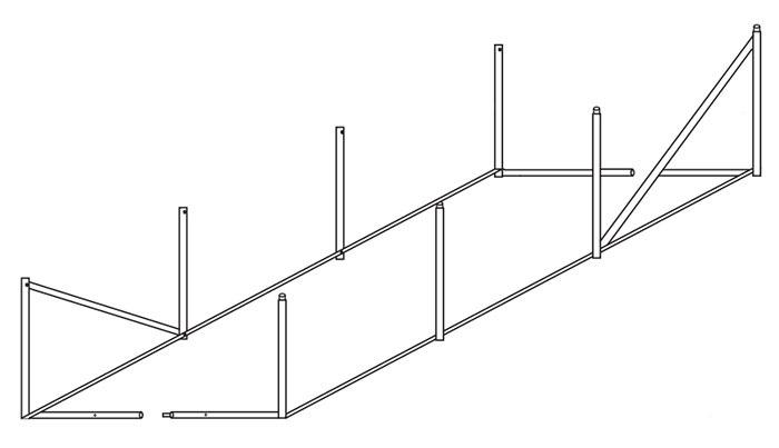 Schéma de la structure Serre Prima 2x3